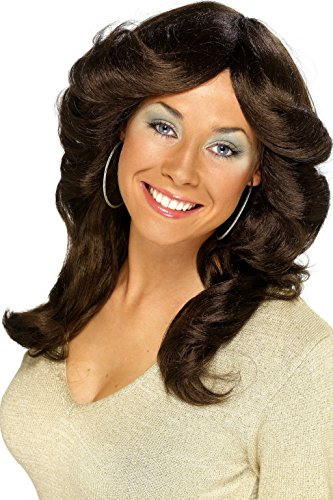 Smiffys 70's Flick Wig - Brown