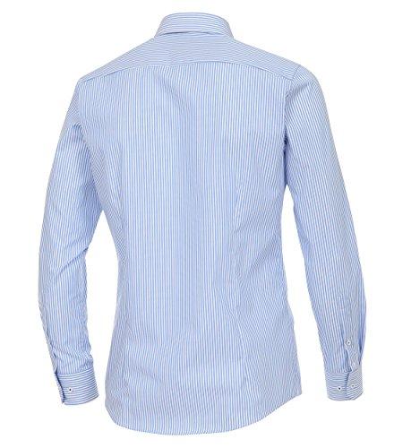 Venti Herren Businesshemd helles Mittelblau - gestreift (100)