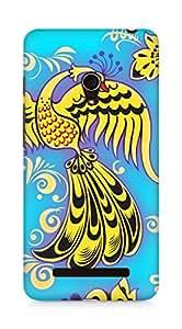 Amez designer printed 3d premium high quality back case cover for Asus Zenfone 5 (Khokhloma ornaments bird color texture)