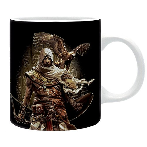 Assassins Creed Origins - Keramik Tasse - Hieroglyphs - Logo - Geschenkbox