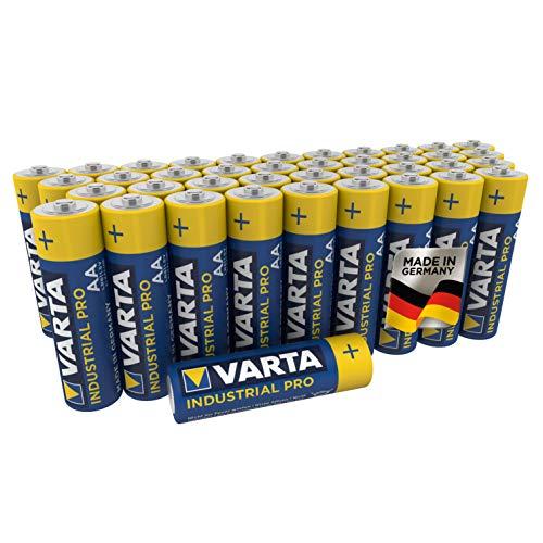 VARTA Industrial - Pilas alcalinas AA / LR6 / Mignon (pack de 40...