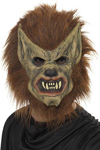 Smiffys, Herren Werwolf Maske, One Size, Braun, 20301 (Vollmond Werwolf Kostüme)