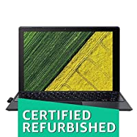 (CERTIFIED REFURBISHED) Acer Switch SW512-52 12-inch Laptop (Core i5-7200U/8GB/256GB SSD/Windows 10/Intel HD Graphics 620), Black
