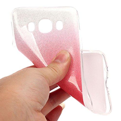 Cozy Hut iPhone SE / 5 / 5S Shell fit ultra sottile Flessibile TPU Gel Shell Custodia Case Cover Protettivo Protettiva Skin Caso,TPU Silicone Bling Caso Cover Sottile Case / Cover /Cover Shell / Prote Rosso e bianco