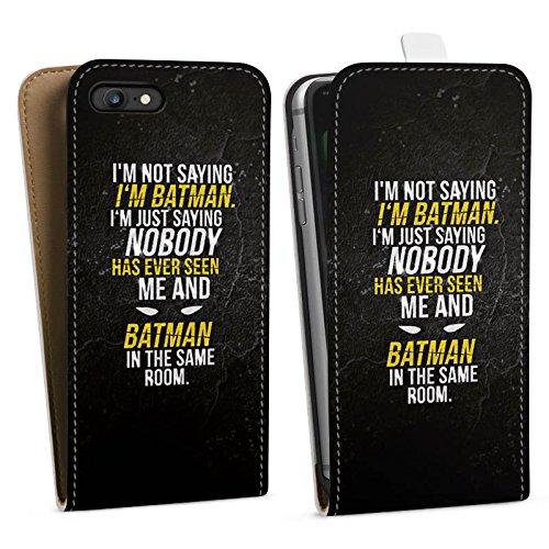Apple iPhone 8 Tasche Hülle Flip Case Sprüche Batman Statement Downflip Tasche weiß
