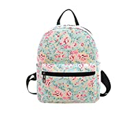 Elonglin Fashion Mini Backpack Schoolbag for Child Lightweight Rucksack Daypack Canvas for Travel Shopping Multi-Pattern Q