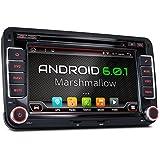 """XOMAX XM-2DA702 Android 6.0.1 Autoradio VW SEAT SKODA / Moniceiver / Naviceiver avec navigation GPS + Écran tactile de 7""""/18cm 16:9 HD (800x480 px) + Support WIFI + Connexion Bluetooth avec fonction mains-libres + Port USB (jusqu'à 2TB) + Fente pour cartes Micro SD (jusqu'à 256 GB) + Mémoire interne 16GB + Connexions subwoofer, caméra recul, commandes au volant + Dimensions Standard DIN double + Antenne GPS inclus"""