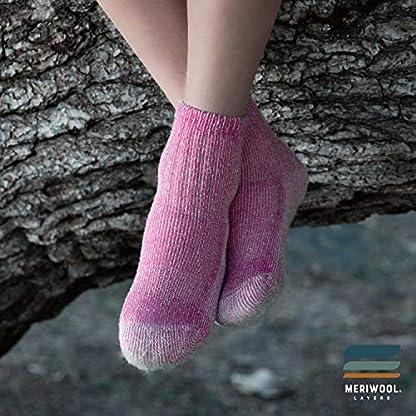 MERIWOOL Merino Wool Kids Hiking Socks for Children 3 Pairs 6