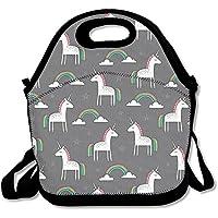 Preisvergleich für Süßer Unicorn Rainbow Lunch Tasche AWESOME Lunch Handtasche Lunchbox Box für Schule Arbeit Outdoor