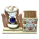 #8: ITOS365 Pen Stand HourGlass with 1 Minute Sand Timer Desk Décor