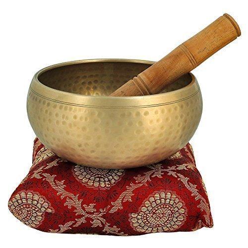 Instrument de musique pour la méditation avec bâton et le coussin 4 pouces métal de cloche du bouddhisme tibétain Chant de bol Qualité Supérieure