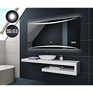 Badezimmerspiegel Led Uhr   Deine-Wohnideen.de