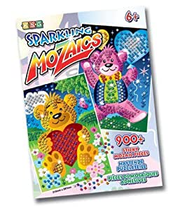 Ksg Arts and Crafts Sparkling Sticky Mosaics with Two Teddy Bear Designs