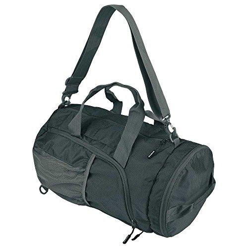 Schwarzwolf outdoor Faltbare 28l Sporttasche Reisetasche zusammenfaltbar Schultertasche als Rucksack verwendbar, Brenta, Marke (schwarz)