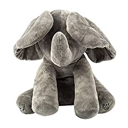 Elephant Plush Toy Singing Songs Animated Music Elephant Ears Flappy Stuffed Baby Kids Doll Gift Grey