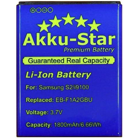 Akku-Star Premium Battery Akku für Samsung Galaxy S2 / II i9100 / SGS 2 / Galaxy R I9103 / S2 Plus i9105P - EB-F1A2GBU / CSTD -