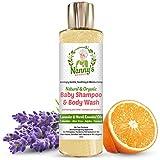 Völlig Natürliches und Organisches Babyshampoo, Körperwäsche und Duschgel | Lavendel und Neroliöl | 100% Natürlich & 76% Organische Seife für Babys und Kinder