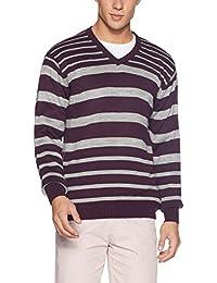 John Miller Men's V-Neck Acrylic Sweater