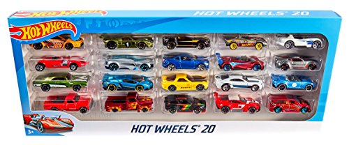 Hot Wheels - Vehicules miniatures - Coffret 20 véhicules- Modèle aléatoire