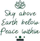 CLICKANDPRINT Aufkleber » Sky above, Earth below, Peace within, 140x34,7cm, Smaragdgrün • Dekoaufkleber / Autoaufkleber / Sticker / Decal / Vinyl