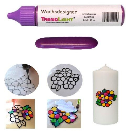 Wachsdesigner lila glänzend 30 ml inkl. ausführlicher Anleitung mit Bilder