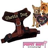 Hunde Chihuahua Brustgeschirr Softgeschirr Kehlkopfschonend Größe S Made in Italy – UVP 54,95 EUR