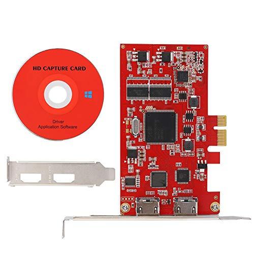 Tonysa PCI-E Riser Karte,HDMI Video Audio Capture Recorder für PCI-E 1080P Dual Port TV Box,Kompatibel mit MPEG-2 Komprimierung/720P/1080i Aufnahmeauflösung Mpeg-video-recorder