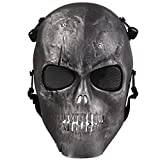 Coofit Ghost Skull Airsoft Paintball Maske militärische Vollschutz Halloween-Kostüm (Style 6)