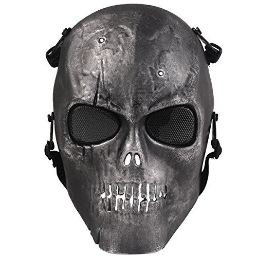 Airsoft Maske, Coofit Ghost Skull Softair Schutzmaske Halloween Maske Totenkopf Paintball Maske auf Amazon