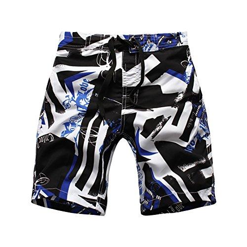 LAPLBEKE Jungen Badehose Boardshorts Schnelltrockend Strandshorts Urlaub Shorts