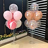 CJMING 3Pcs Balloon Stand Kit Sets, Ballon Plastic Holder, Pole Balloon Stick Balloon Tree Holder Balloons Accessory for Party Birthday Wedding Christmas