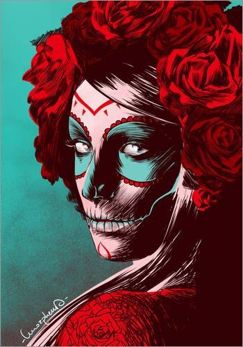 Alubild 60 x 80 cm: Dia de los Muertos von Paola Morpheus (Dia De Los Muertos-traditionen)
