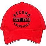 2nd änderungsantrag Est 1791Baumwolle bessieflores Billig Snapback Kappen verstellbar hatmale/weiblich Classic Baseball Mützen, damen unisex Herren, rot