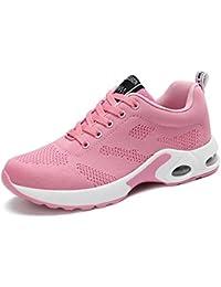 Scarpe Sportive Donna Sneakers Lacci Eco Pelle Fitness Ginnastica Corsa Basse Fa ZSECfA