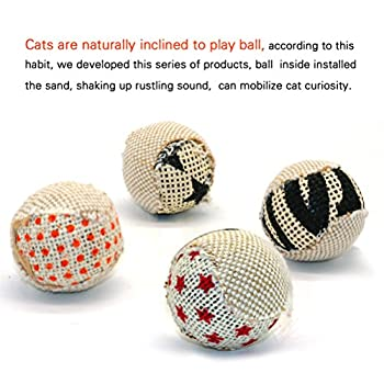 UEETEK 4pcs 5CM chat jouet chaton chat gratter Ball Play Scratch Toy