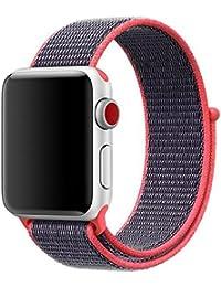 Mira la banda,Aplicable manzana watch1/2/3 Apple deportes correa de lazo de nylon iwatch nylon correa de velcro,Nueva luz de moda pulsera correa de reloj correa de reloj (Glitter)
