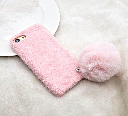 iPhone Fell Luxus Schutzhülle Fall mit Niedliche Pom Pom (mit Einem Gratis Displayschutzfolie) für iPhone 7/iPhone 8/iPhone 7Plus/iPhone 8Plus, iPhone 7 Plus/iPhone 8 Plus (5.5