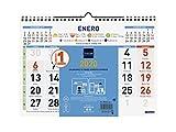 Finocam - Calendario de pared 2020 Color Números Grandes español