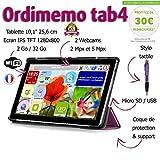 Tablette Senior ORDIMEMO TAB4 2 Go/32 Go 10,1' 1280x800 WiFi + (Coque+Stylet OFFERTS) / Noir