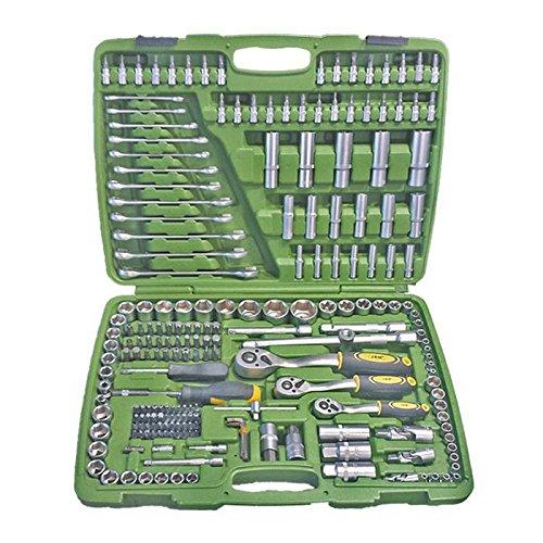 JBM 50895-Llave de impacto para coche-Estuche de herramientas con vasos hexagonal, Set de 216