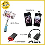 Selfie Stick + Wide Photo Lens + Micro S...