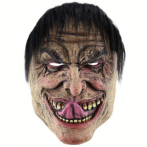Tcbz Halloween Maske Latex Masken Lustige Elend Maske Horror Latex Clown Maske Verkleidungen Kostüm Party Requisiten Supplies (Burlesque Kostüm Geschichte)