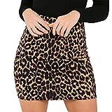 Longzjhd Frauen Leopard Gedruckt Rock Hohe Taille Bleistift Bodycon Hüfte Mini Rock damen Frühling Herbst Wild Abendkleid Lässig Elegant Kleider Abendkleid Röcke Party Kleid