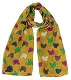 Chicken Print Ladies Fashion Scarf (Green)