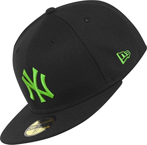New Era casquette à languette ajustable NY Yankees saisonniÚre Basics 6 7/8 Noir/vert citron