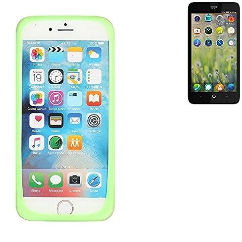Silikonbumper / Bumper aus TPU für Geeksphone Revolution, Grün   Schutzrahmen Schutzring für Smartphone Case Hülle Schutzhülle - K-S-Trade (TM)