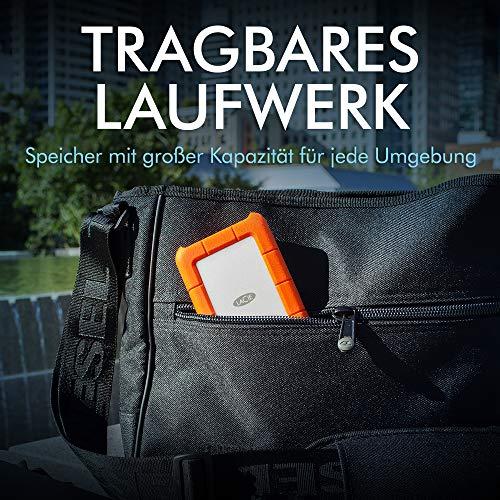 LaCie Rugged Mini USB-C, 2 TB, tragbare externe Festplatte für Mac, 2.5 Zoll, USB-C, Mac, PC