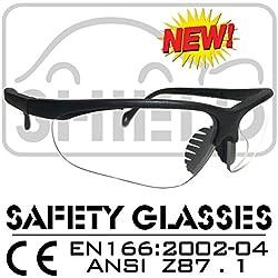 Shield * Shooter * Clear Deportes Gafas de protección, gafas, gafas de tiro,–Gafas protectoras de trabajo de la norma DIN EN 166, Bike Gafas