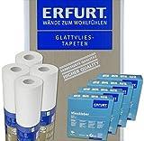 Wacolit-Set 4 Rollen 75m² Erfurt Variovlies ECO 150 inkl. 4x Vlieskleber Ecovlies Glattvlies Renoviervlies