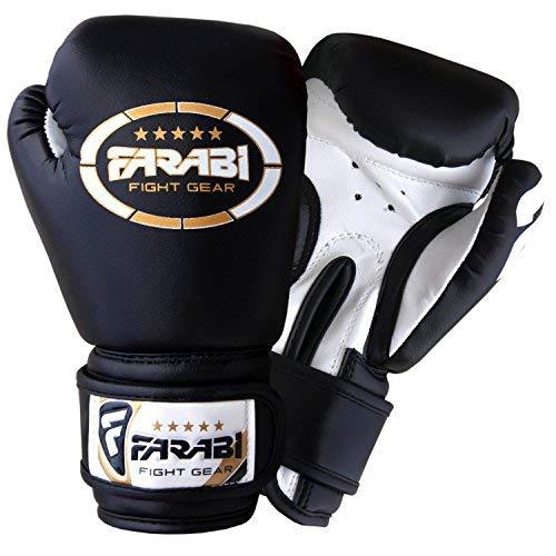 Kinder Boxhandschuhe 4 oz (113g), Kunstleder, Schwarz (Boxing Equipment Kinder)